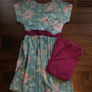 Girls Dress and Leggings Set
